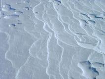 Tampa de neve e textura virgem, pura fotos de stock