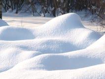 Tampa de neve fresca Imagem de Stock