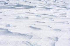 Tampa de neve nevado como o fundo ou a textura imagens de stock