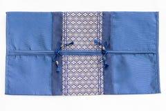 Tampa de seda da textura do descanso do coxim do estilo tailandês Fotos de Stock