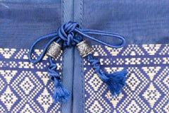 Tampa de seda da textura do descanso do coxim do estilo tailandês Foto de Stock Royalty Free
