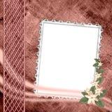 Tampa do álbum com frame e flores Fotos de Stock Royalty Free