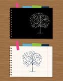 Tampa do caderno e projeto da página Imagens de Stock Royalty Free