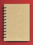 Tampa do caderno espiral Fotografia de Stock Royalty Free