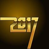 tampa do calendário do ano 2017 novo, ilustração tipográfica do vetor Foto de Stock