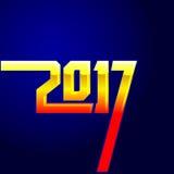 tampa do calendário do ano 2017 novo, ilustração tipográfica do vetor Foto de Stock Royalty Free