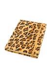 Tampa do leopardo do caderno Imagem de Stock Royalty Free