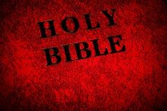 tampa do livro da Bíblia fotos de stock