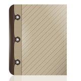Tampa do livro, de um caderno ou do leat artificial da imitação do diário Imagem de Stock
