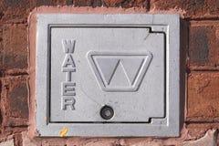 Tampa do medidor de água Fotos de Stock Royalty Free