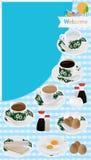 Tampa do menu do café da manhã de Nanyang Fotografia de Stock Royalty Free