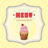 Tampa do menu do gelado Fotografia de Stock