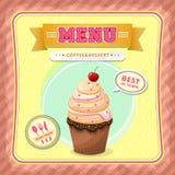 Tampa do menu do gelado Imagens de Stock