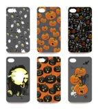 Tampa do telefone celular ajustada para trás Halloween Imagens de Stock