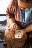 Tampa do telefone celular da pintura Fotografia de Stock Royalty Free