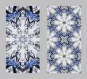 Tampa do telefone celular para trás com teste padrão bonito no projeto do fractal Fotos de Stock Royalty Free