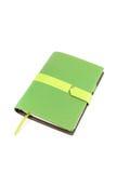 Tampa do verde do caderno Imagem de Stock Royalty Free