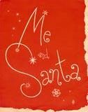 Tampa do vintage mim e de Santa Fotografia de Stock