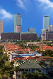 Tampa downtown. Aerial view Tampa downtown, Florida Royalty Free Stock Photo