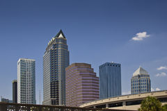Tampa, Florida. The skyline of Tampa, Florida. Skyscrapers. Space for copy Royalty Free Stock Photos