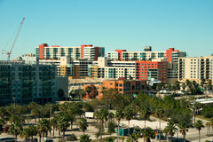 Tampa, Florida. View of Tampa apartments near the bay area stock photos