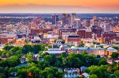 Birmingham, Alabama. USA downtown city skyline royalty free stock photos