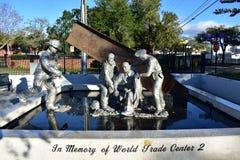 Tampa, Florida - EUA - 8 de janeiro de 2016: 9/11 de memorial - cidade de Ybor fotos de stock