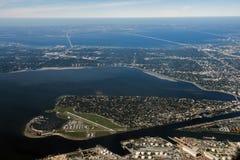 Tampa Florida flyg- sikt Fotografering för Bildbyråer