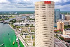 Tampa, Florida Green River on St. Patrick`s Day royalty free stock photography