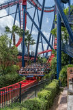 TAMPA, FLORIDA - MAY 05, 2015: Attractions in Busch Gardens Tampa Bay. Florida. Attractions in Busch Gardens Tampa Bay. Florida royalty free stock photo
