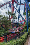 TAMPA, FLORIDA - MAY 05, 2015: Attractions in Busch Gardens Tampa Bay. Florida. Attractions in Busch Gardens Tampa Bay. Florida royalty free stock photography