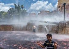 TAMPA, FLORIDA - MAY 05, 2015: Attractions in Busch Gardens Tampa Bay. Florida. Water Splash. Stock Photo