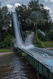 TAMPA, FLORIDA - MAY 05, 2015: Attractions in Busch Gardens Tampa Bay. Florida. Water Splash. Royalty Free Stock Images