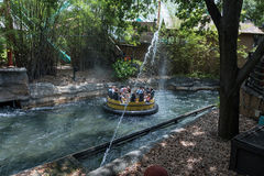 TAMPA, FLORIDA - MAY 05, 2015: Attractions in Busch Gardens Tampa Bay. Florida. Water Splash. Stock Image