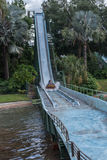 TAMPA, FLORIDA - MAY 05, 2015: Attractions in Busch Gardens Tampa Bay. Florida. Water Splash. Royalty Free Stock Photography