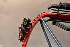 Funny people enjoying terrific Sheikra Rollercoaster at Bush Gardens Tampa Bay. Tampa, Florida. October 06, 2018 . Funny people enjoying terrific Sheikra stock photo