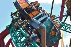 Cobra`s Curse Florida`s first family spin coaster at Bush Gardens Tampa. royalty free stock images