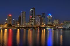 Free Tampa Florida Skyline Royalty Free Stock Photography - 17288237