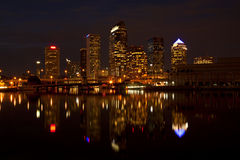 Tampa, Florida skyline after dark Royalty Free Stock Photo