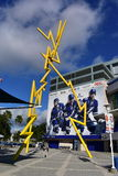Tampa, Florida - U.S.A. - 7 gennaio 2017: Amalie Arena Thunder Al immagini stock libere da diritti