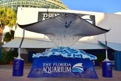 Tampa Florida - USA - Januari 07, 2016: Florida akvarium Tampa Royaltyfria Bilder
