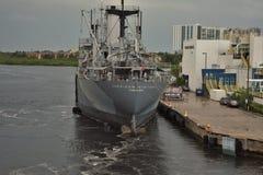 Tampa, Florida - USA - September 2018: American Victory Mariners` Memorial and Museum Ship stock photos