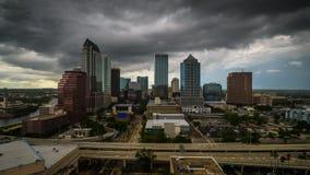 Tampa, Florida, USA. Downtown skyline at dusk stock footage