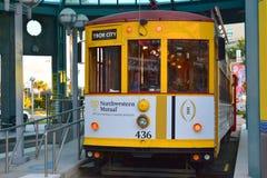 Tampa, Floryda Styczeń 07, 2016: - usa - Zatoka Tampa tramwaj Zdjęcia Royalty Free