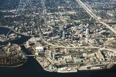 Tampa, Floryda widok z lotu ptaka Fotografia Royalty Free