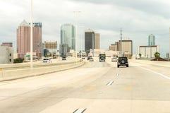 Tampa florydy Miasto budynki na chmurnym dniu Zdjęcie Stock