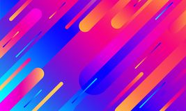Tampa geométrica Composição colorida das listras do inclinação Cor azul de néon moderna fresca Formas fluidas abstratas Cartaz lí ilustração do vetor