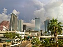 Tampa horisont arkivfoto