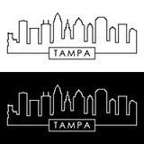 Tampa horisont linjär stil vektor illustrationer