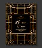 tampa invitation No estilo Gatsby ilustração do vetor
